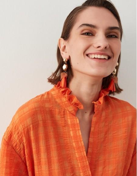 Orange Earring