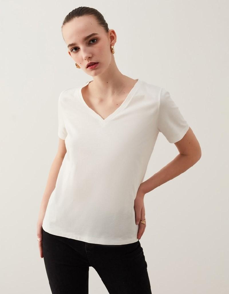 Off White Basic T-Shirt