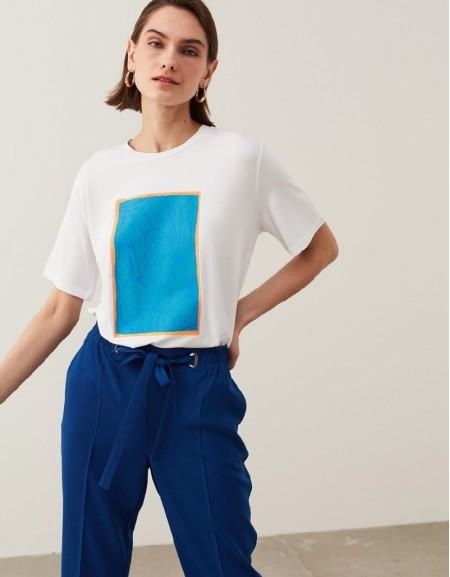 White Visual Print T-Shirt