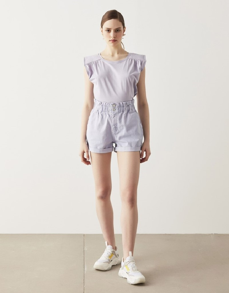 Lilac Wadded T-Shirt