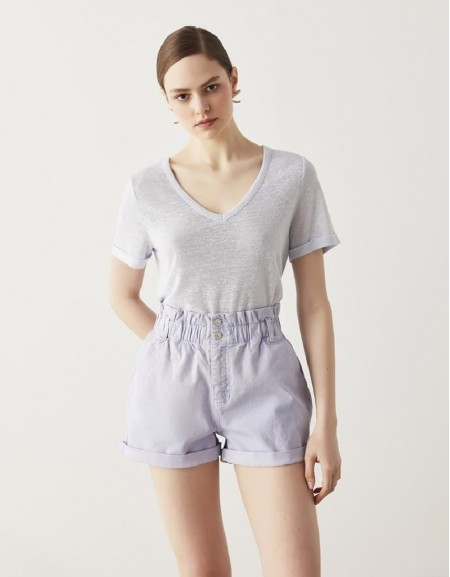 Blue Basic V-Neck T-Shirt