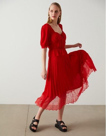 Red Long Maxi Dress
