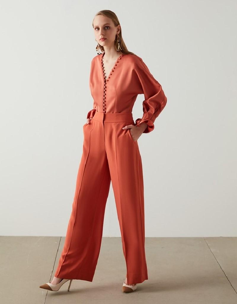 Old Rose HighWaist Orange Pant