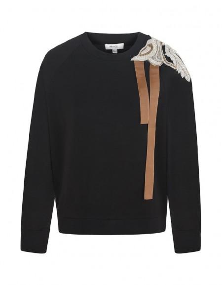 Black Sweatshirt with Sequins
