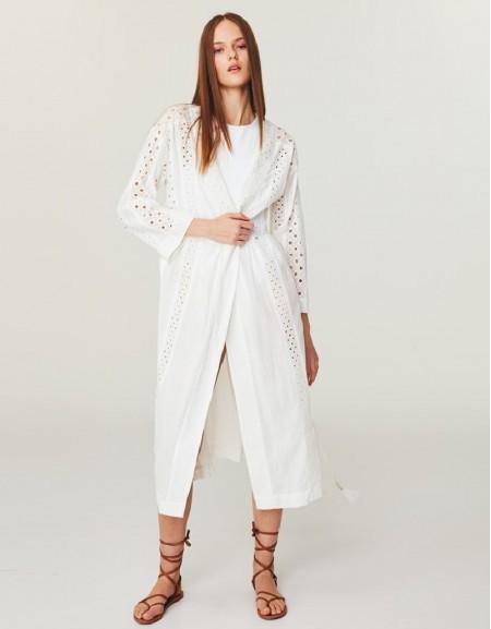White Brode Mıx Dress