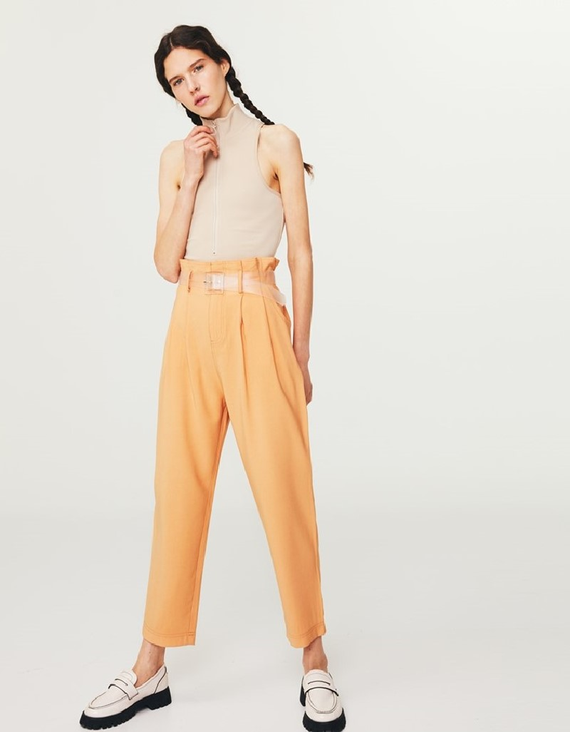 Orange Carrot Fit Trousers