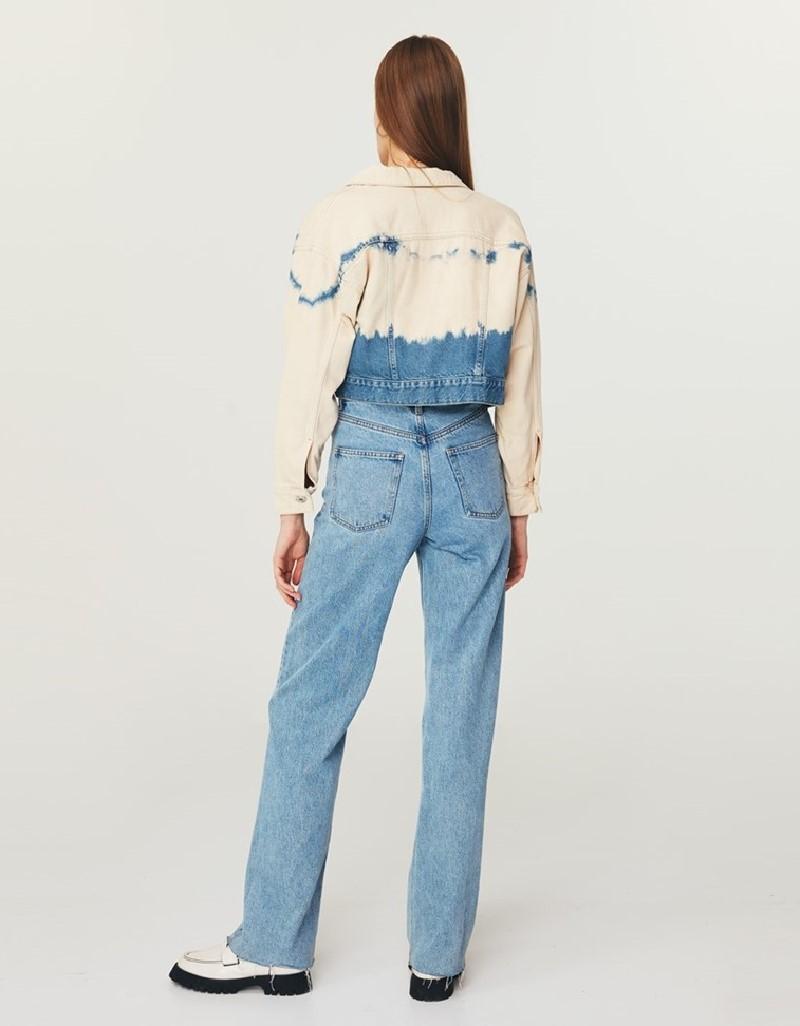 Blue Tie-Dye Wash Jean Jacket