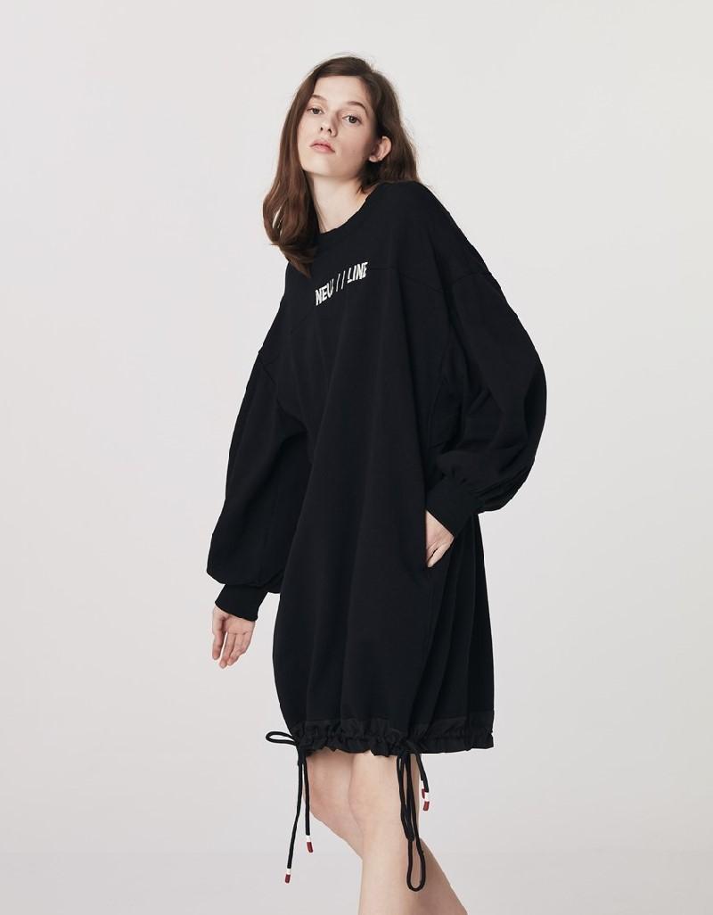 Black Sweatshirt Dress