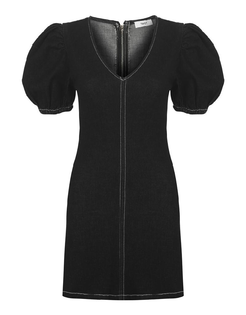 Black Mini Jean Dress