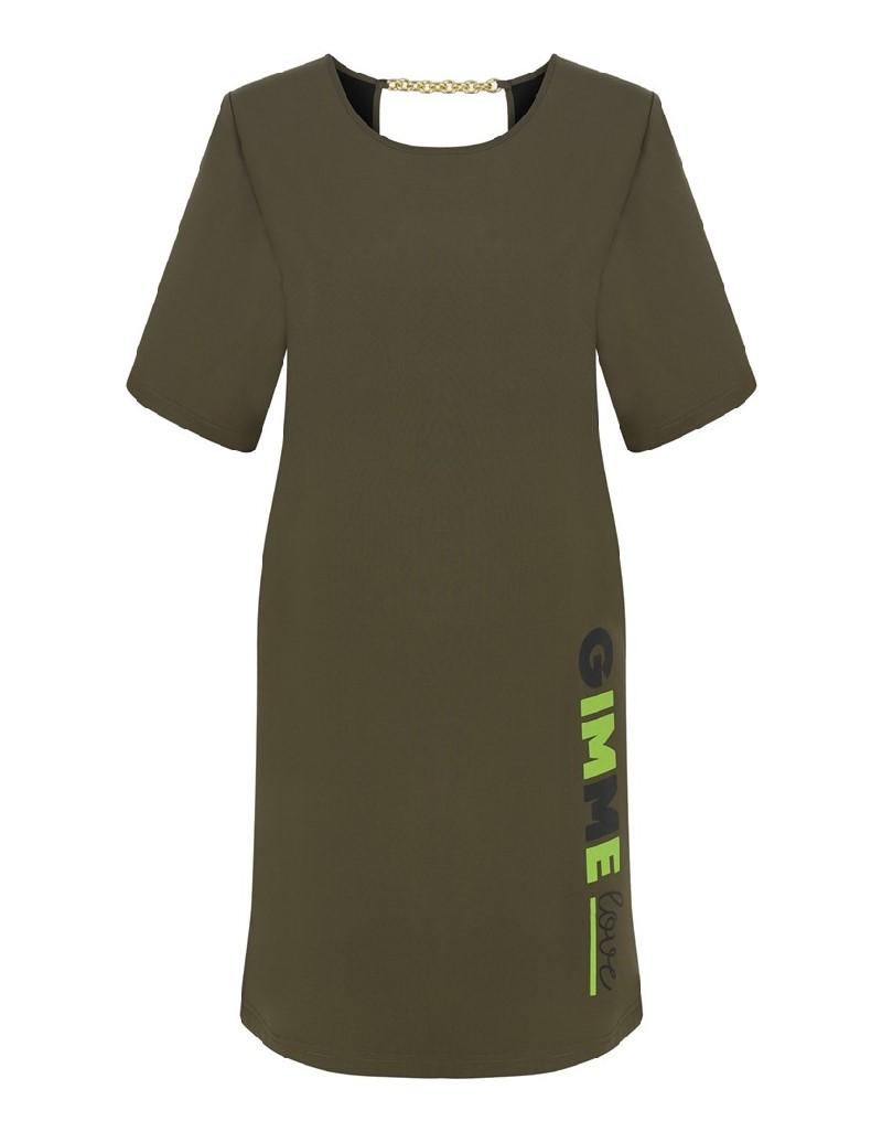 Khaki Bonded Dress