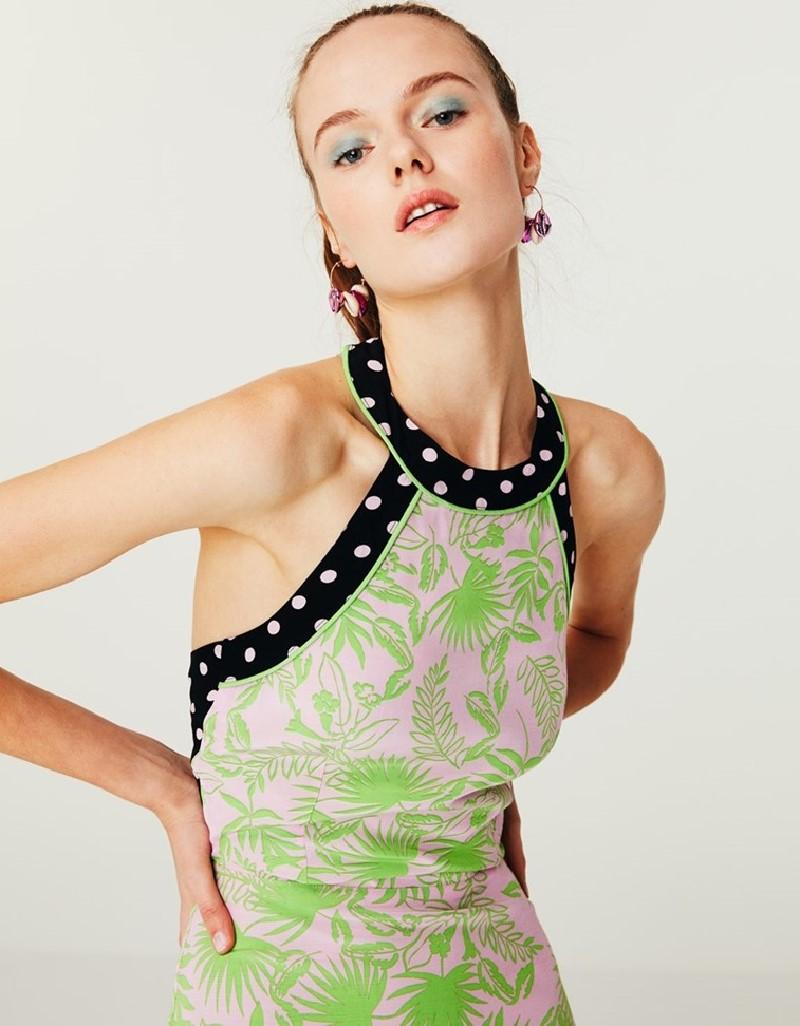 Lilac Back Detail Maxi Dress