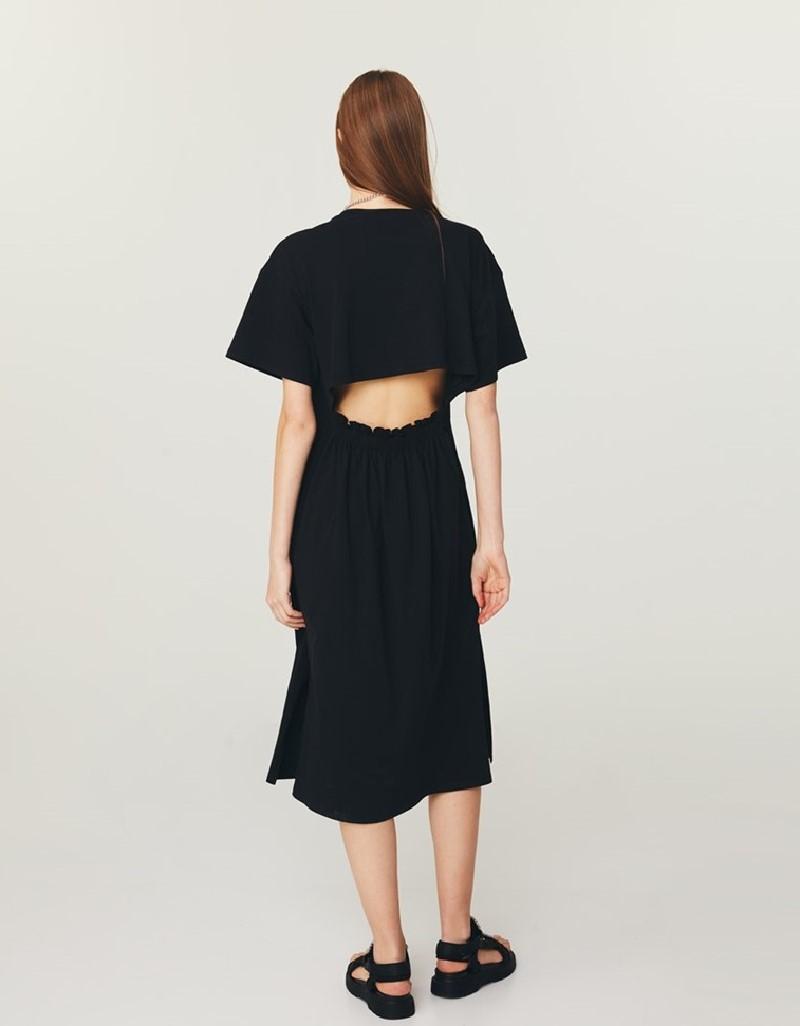 Black T-Shirt Dress With Back Detail