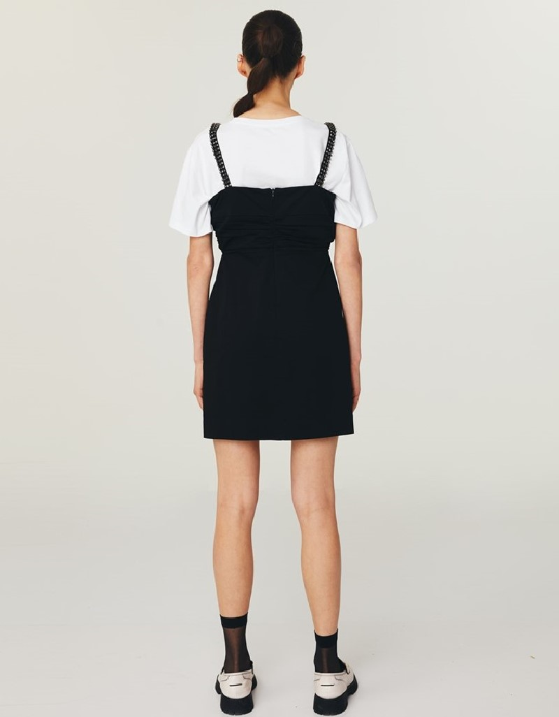 Black Crystal Stone Strappy Dress