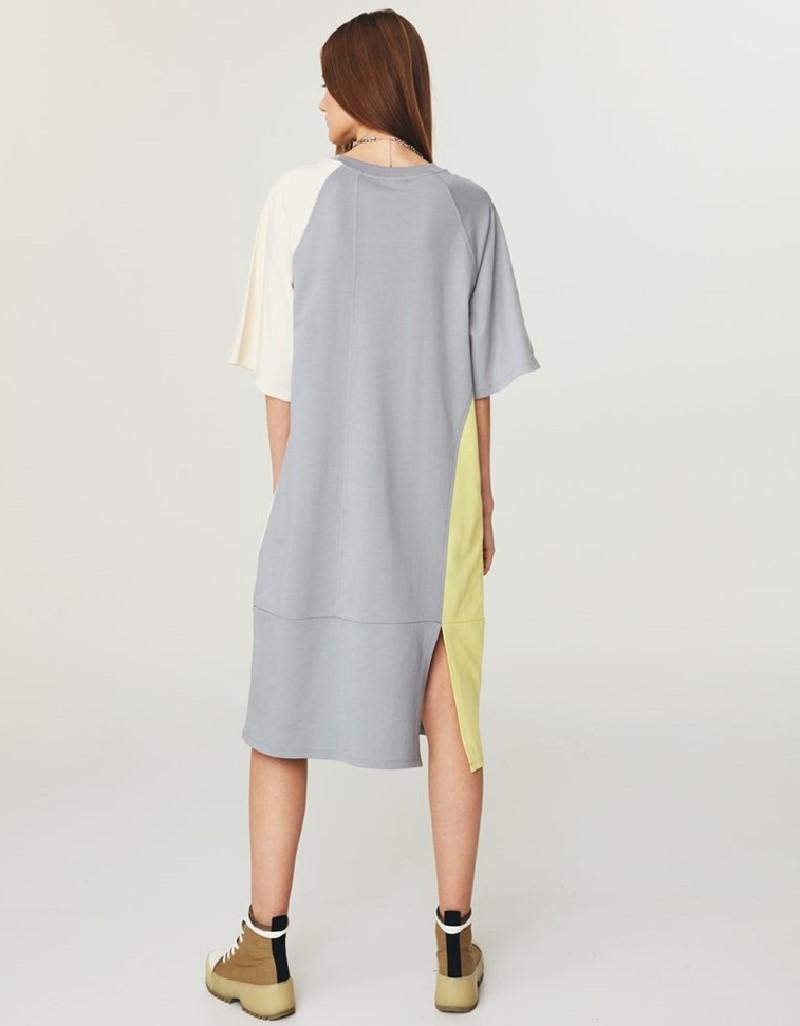 Grey Mlg Colorblock Sweat Dress