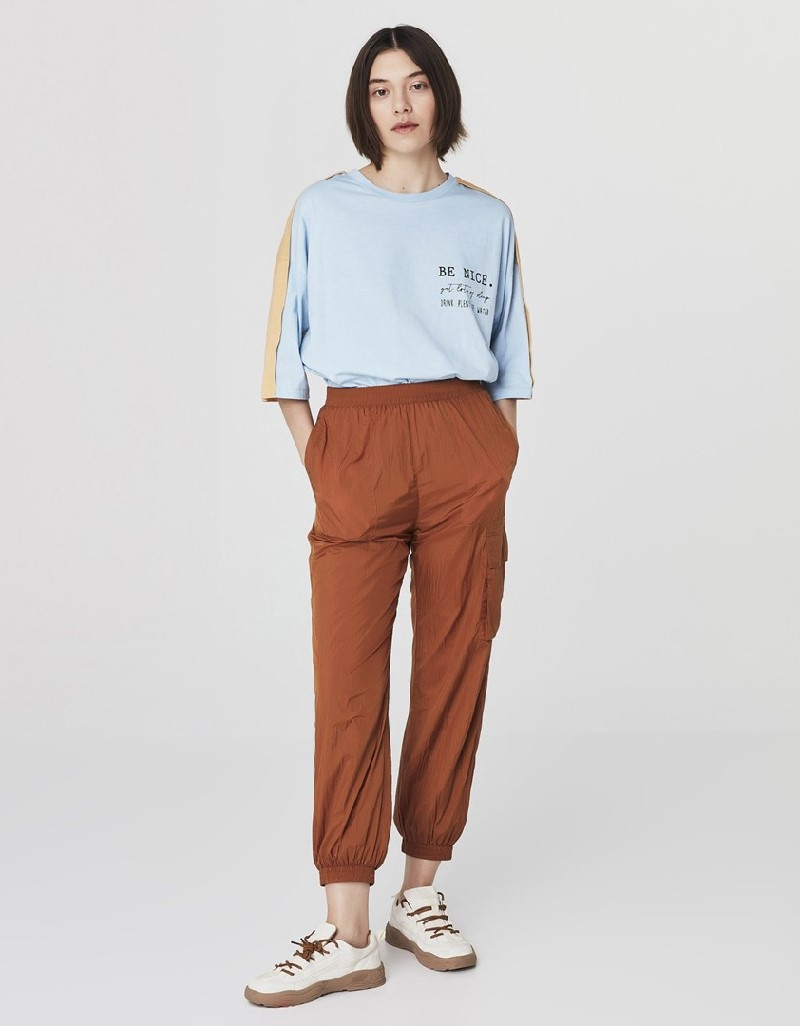 Cinnamon Technical Fabric Cargo Trousers