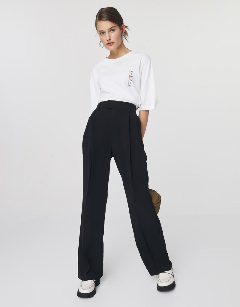 Black Wide Leg Fit Trousers