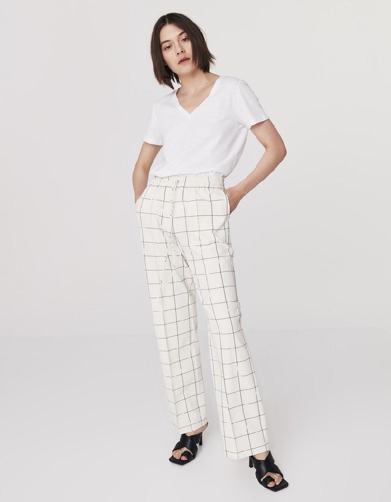 Cream Wide Leg Pants