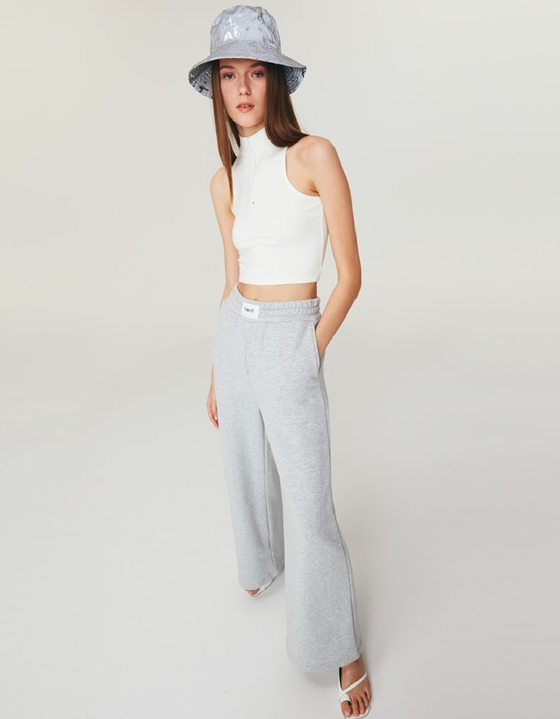 Grey Mlg Wide Leg Fit Trousers