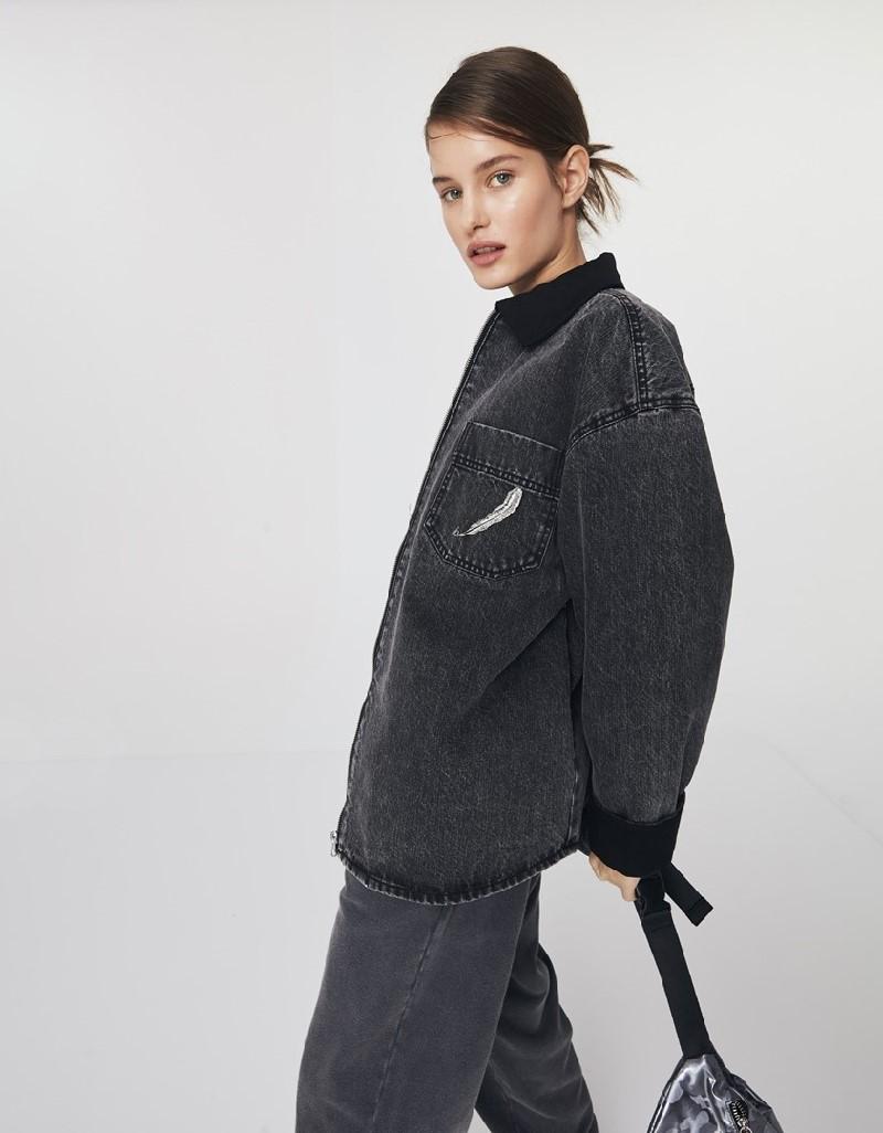 Anthracite Oversized Denim Jacket
