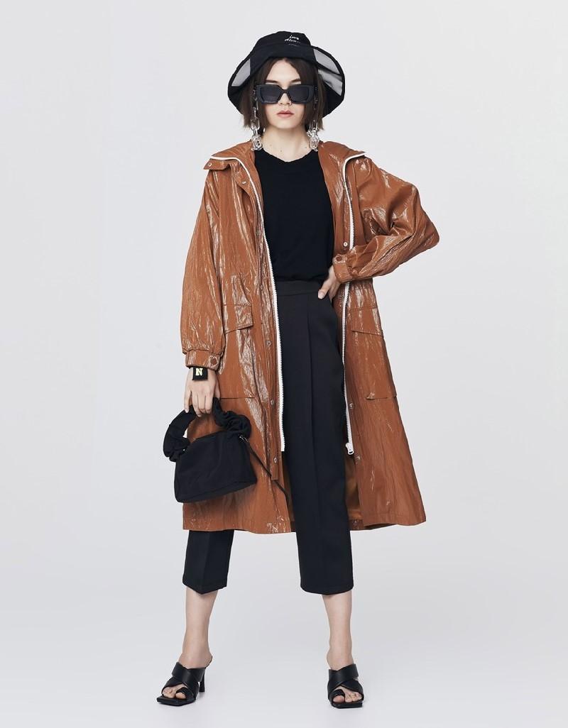 Brick Technical Fabric Raincoat