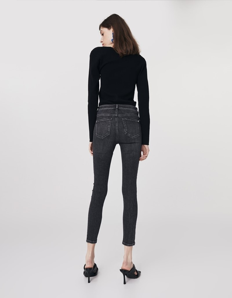 Anthracite Skinny Jeans Pants