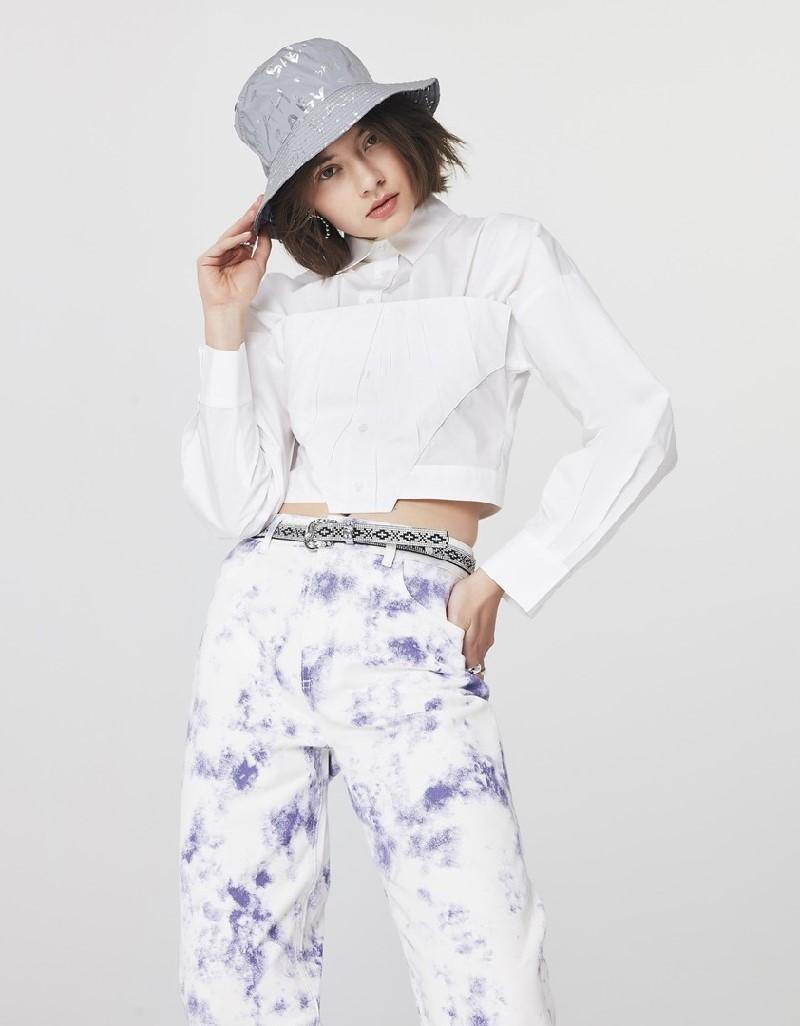 Lilac Tie-Dye Print Jeans