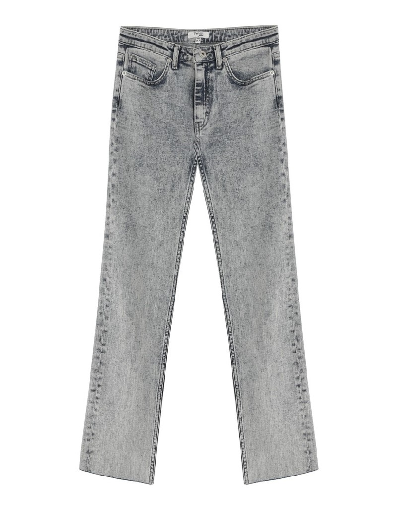 Indigo Cropped Straight Fit Jeans