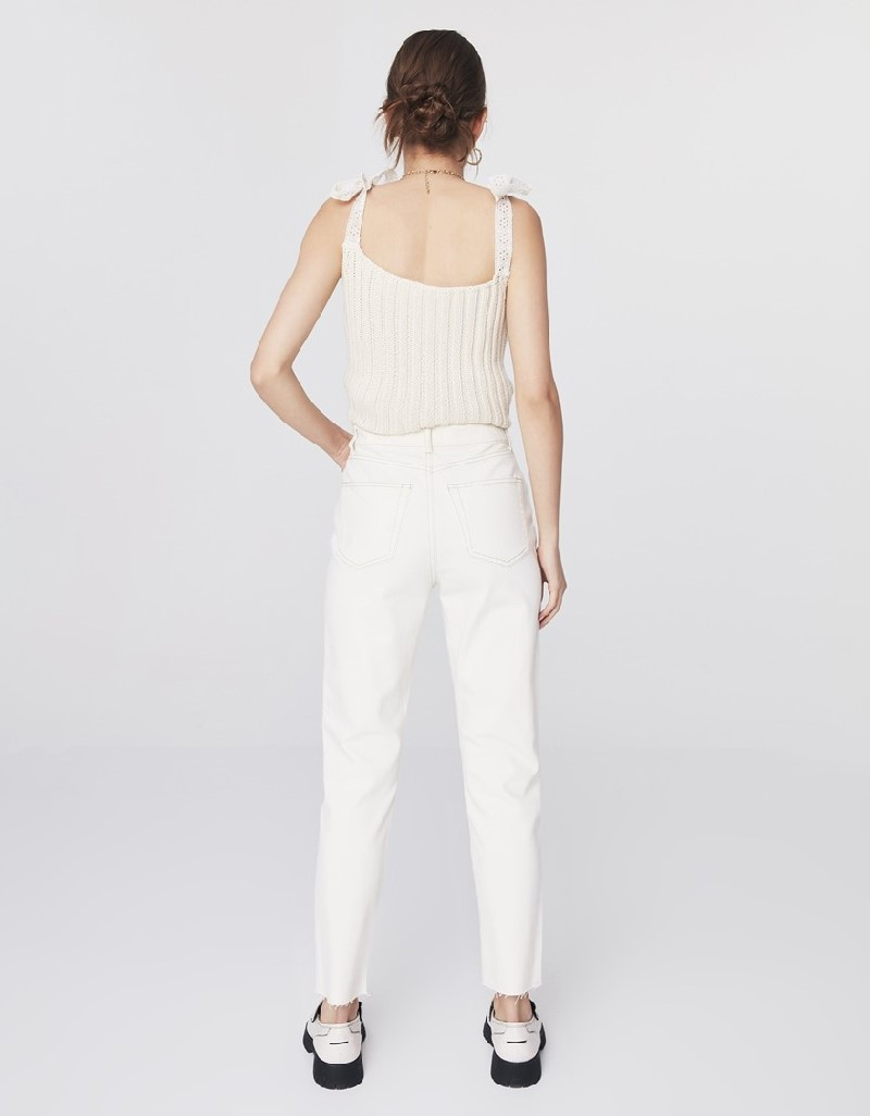 Natural Slim Straight Cropped Jeans