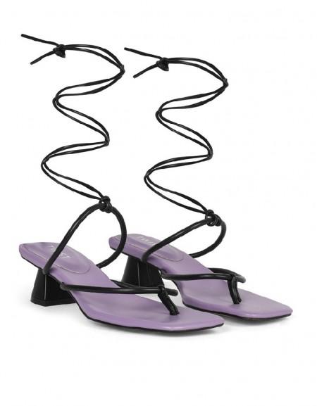 Purple Heeled Shoes