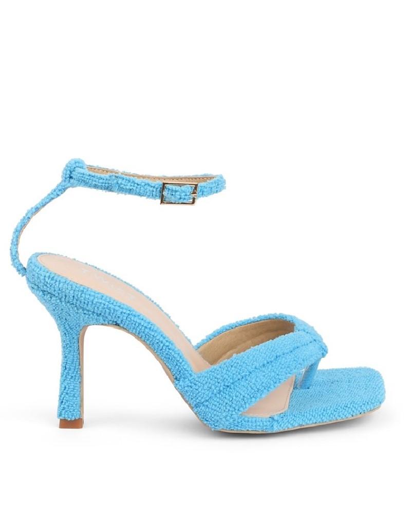 Blue Sliver-To-Heel Shoes