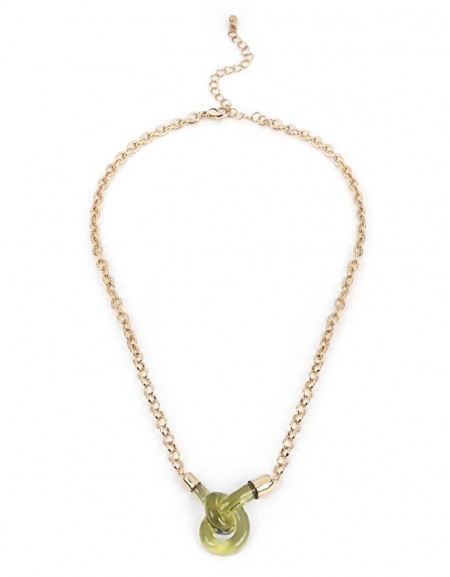 Green Twisted Chain Necklace