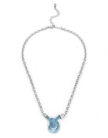 Blue Twisted Chain Necklace