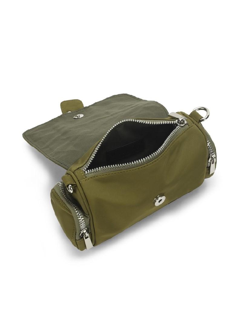 Khaki Trok print sleeve bag
