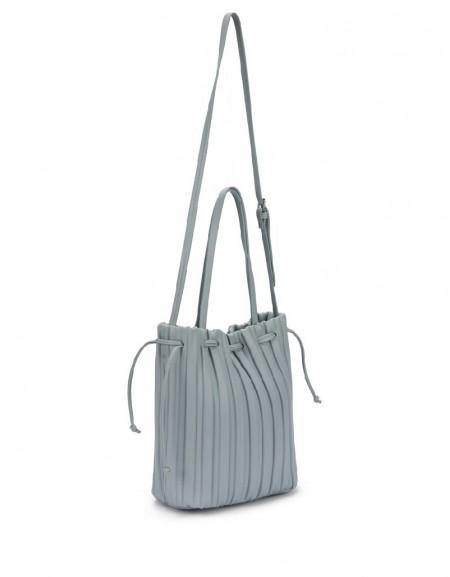 Blue Gathered bag