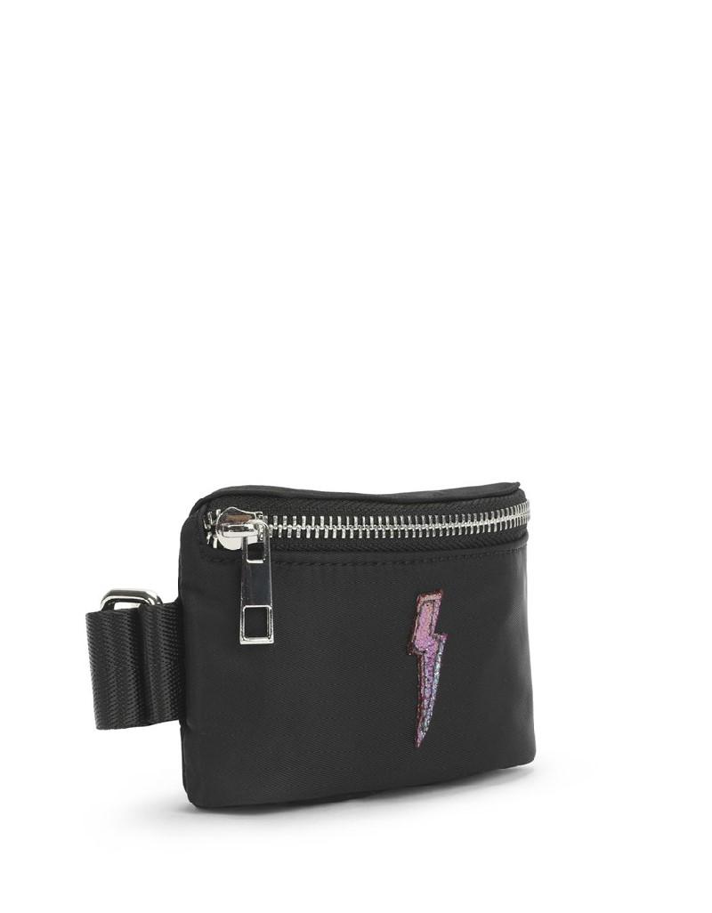 Black Lightning Figured Wrist Bag