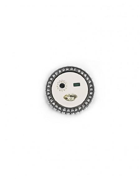 Silver Smile Figure Brooch