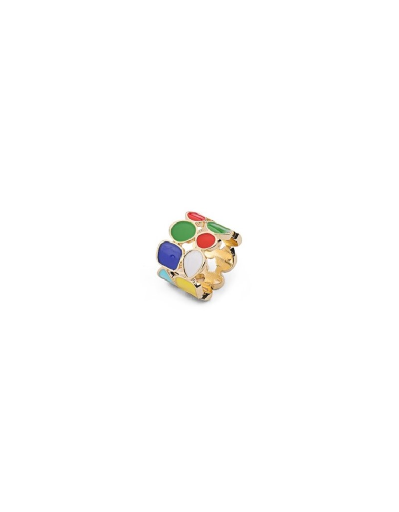 Rainbow Colorful Stone Ring