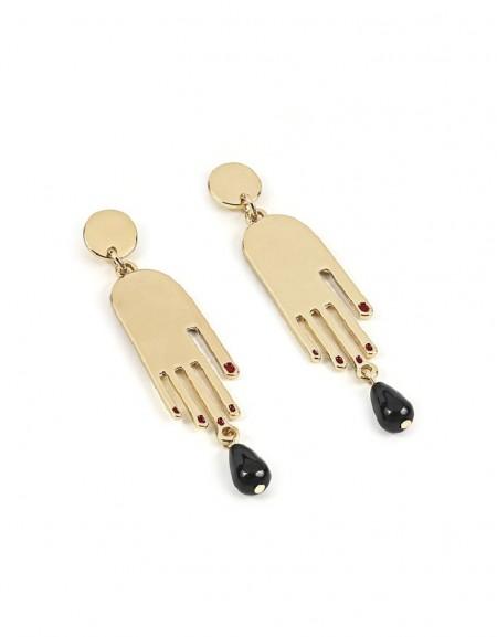 Gold Hand Figure Earrings