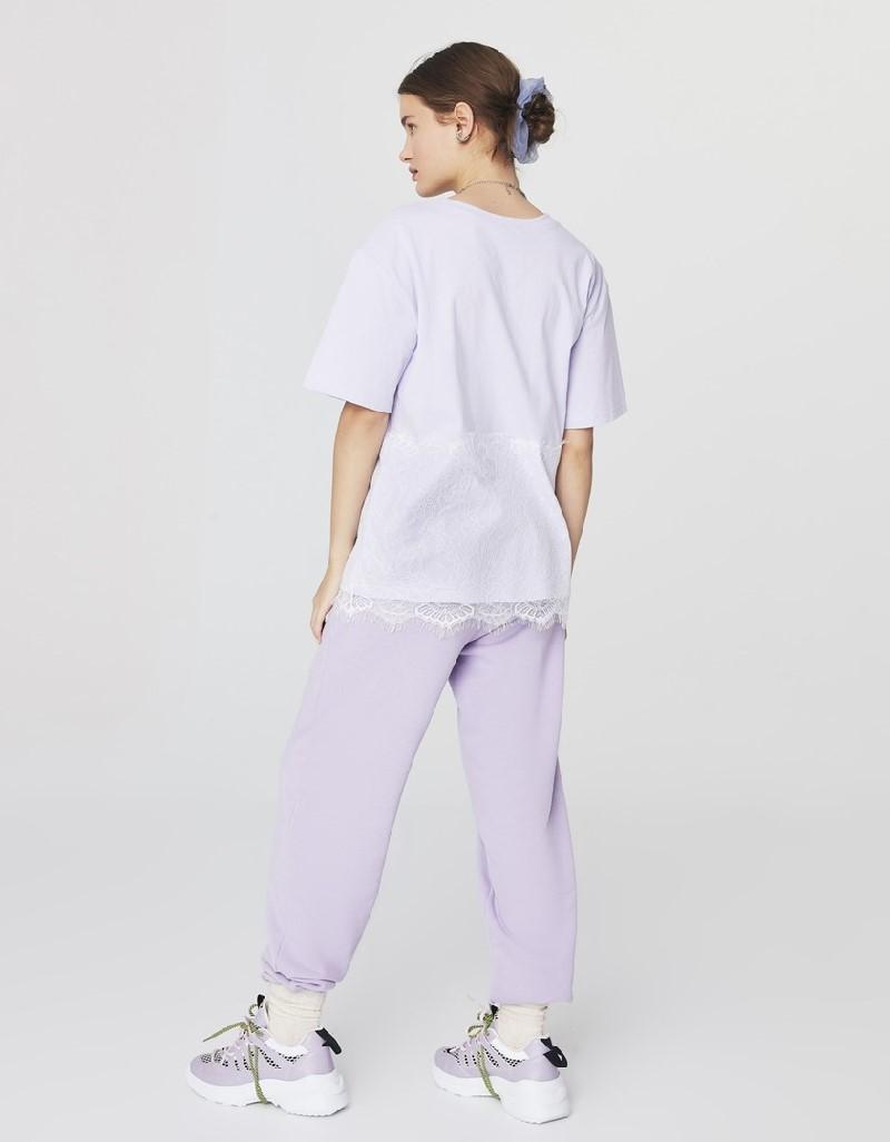 Lilac Lace-Mix T-Shirt