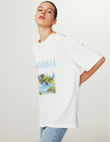 White Graphic Print T-Shirt Dress