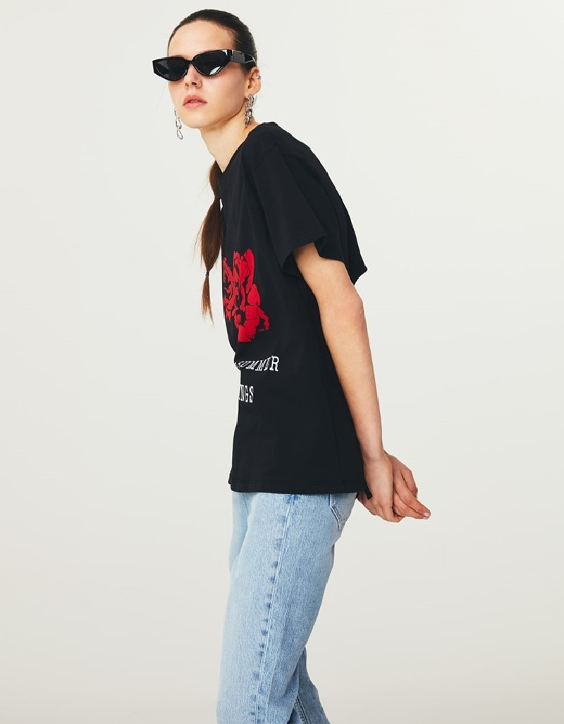 Black T-Shirt With Back Detail