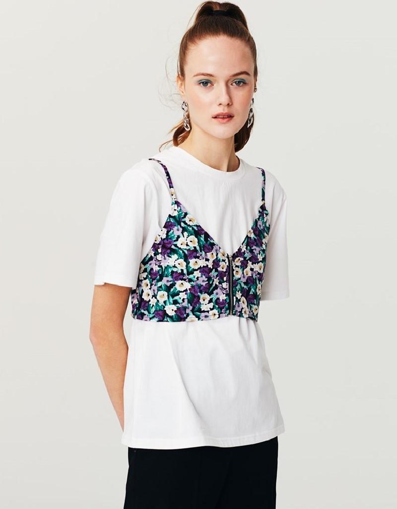 White Double Piece T-Shirt