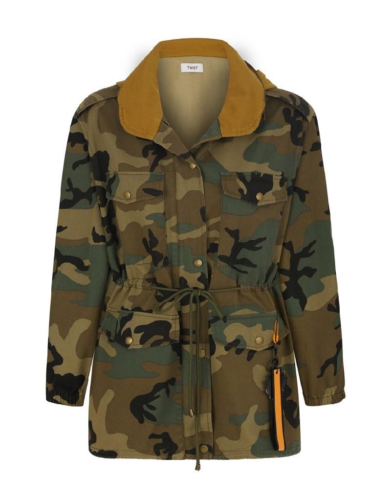 Khaki Camouflage Pattern Parka