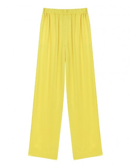 Yellow Fluid culotte trousers