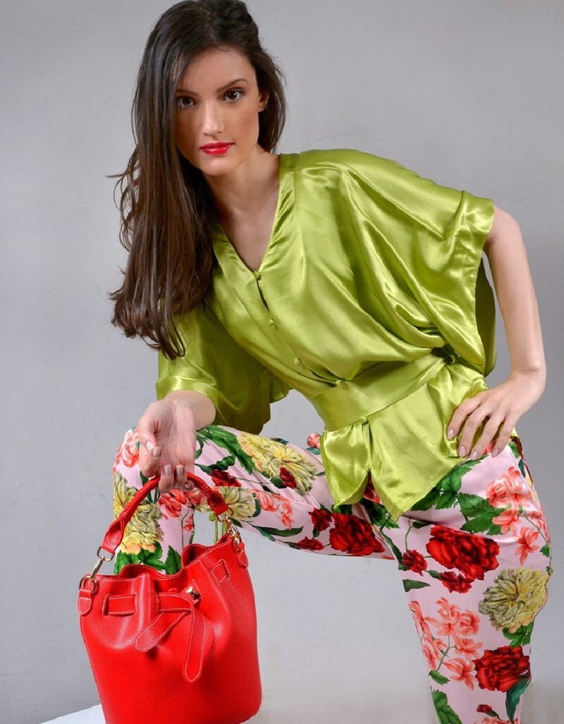 Pink Blooming floral trousers