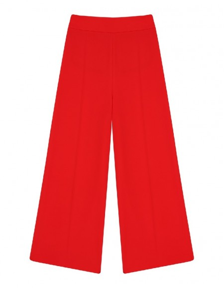 Red Palazzo trousers