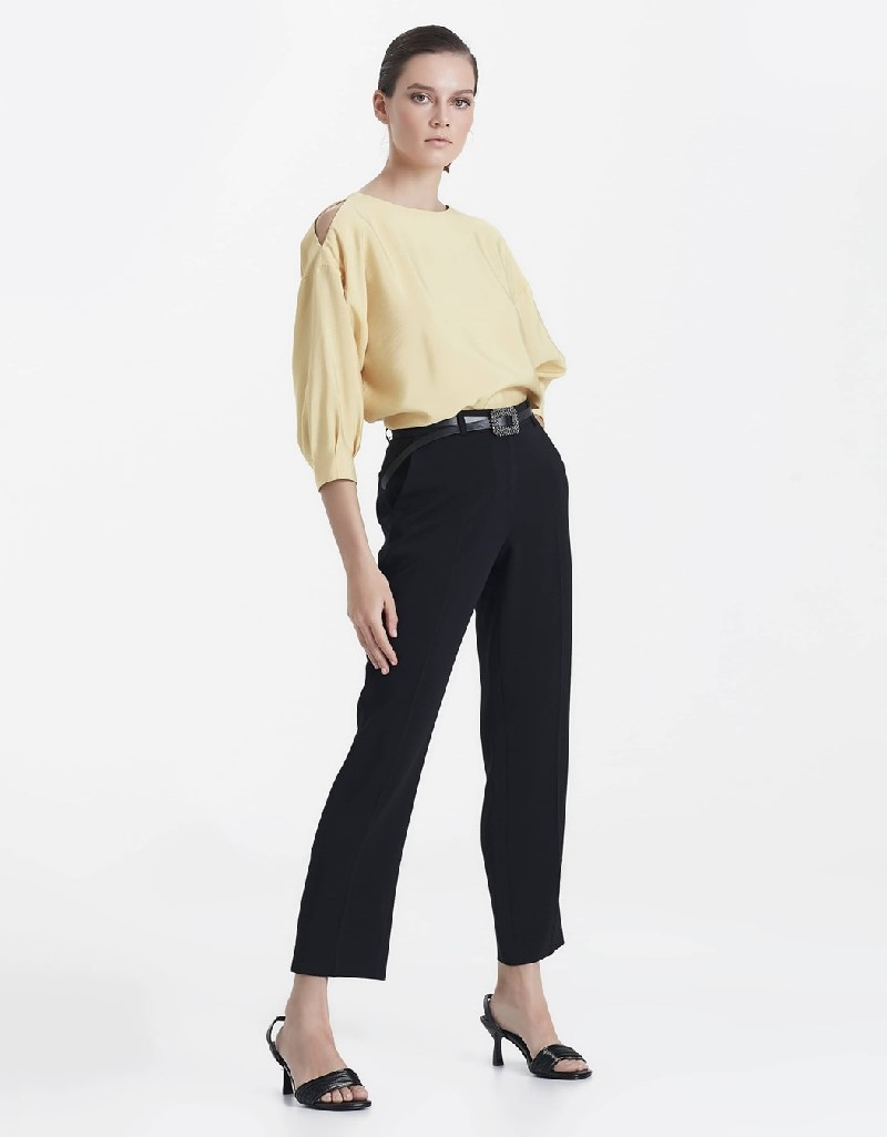 Black Pants with cuff slit