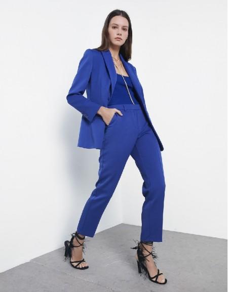 Blue Classic cut pants