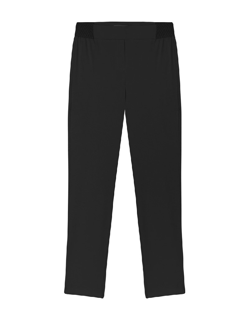 Black Elastic Waisted Pants