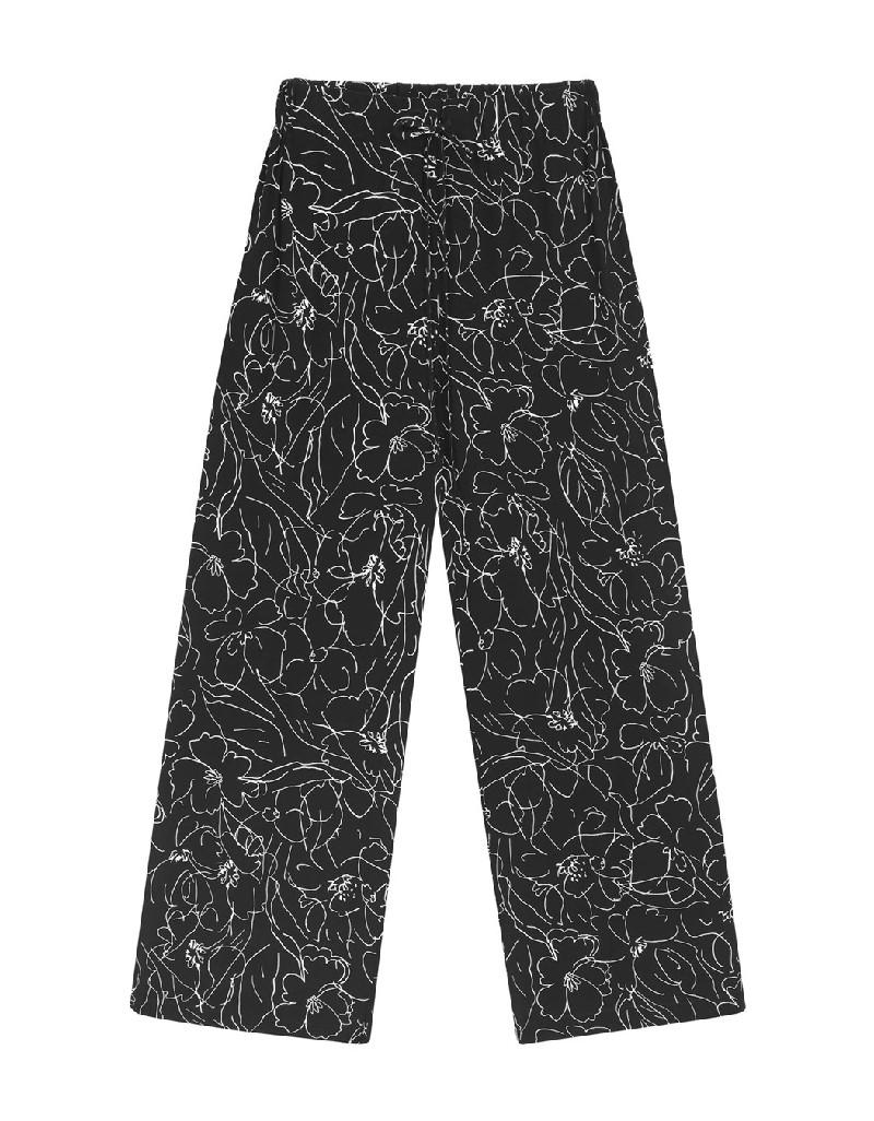 Black Patterned Pants